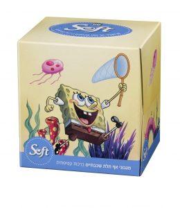 סנו סופט בוב ספוג  מגבוני אף בקופסה